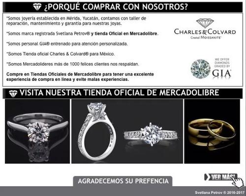 anillo de compromiso con  diamante cutlivado de 30 pts.