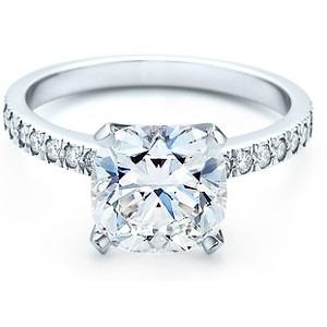 anillo de compromiso con diamante  grafito cushion 1,5 ct