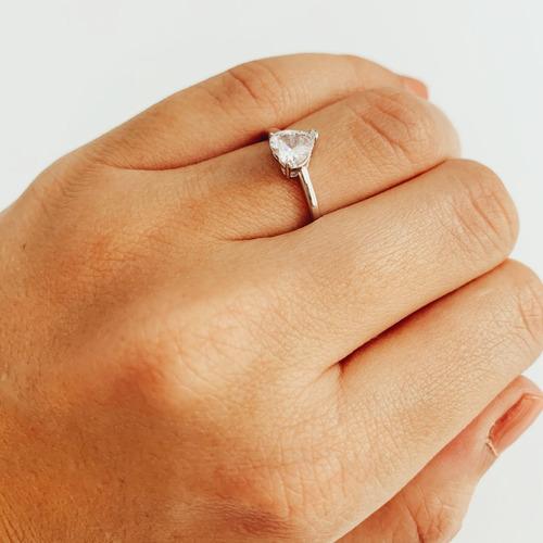 anillo de compromiso corazon de plata 925 mod 10384