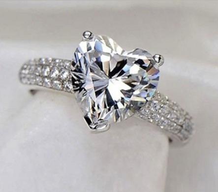 anillo de compromiso corazón swarov elements, novia regalo