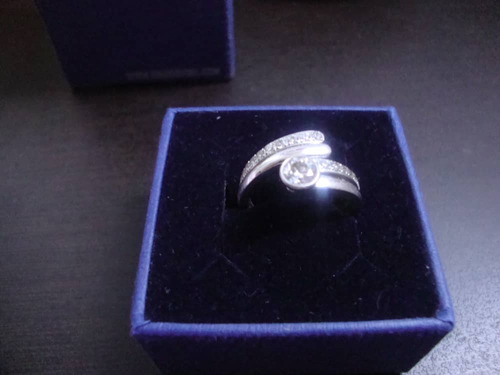 anillo de compromiso cristal de swarovski original