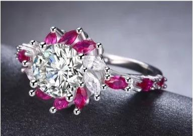 anillo de compromiso cristal swarov elements novia obsequios