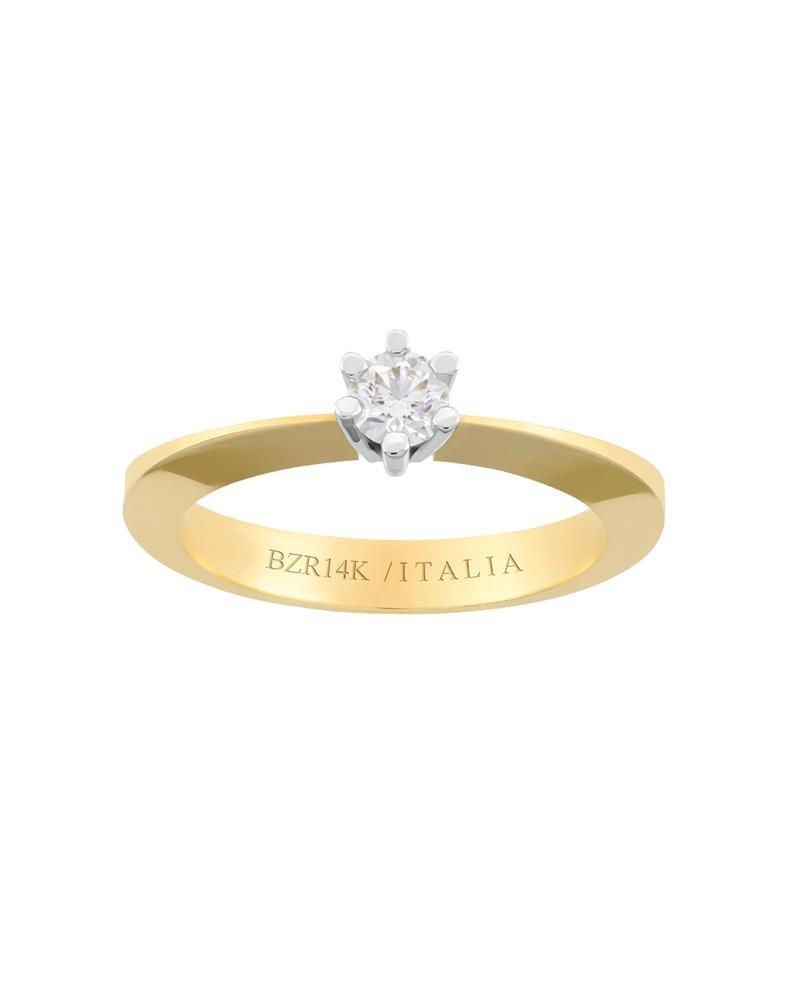 854f2ae25f4f anillo de compromiso de oro amarillo y blanco con -551bic-25. Cargando zoom.