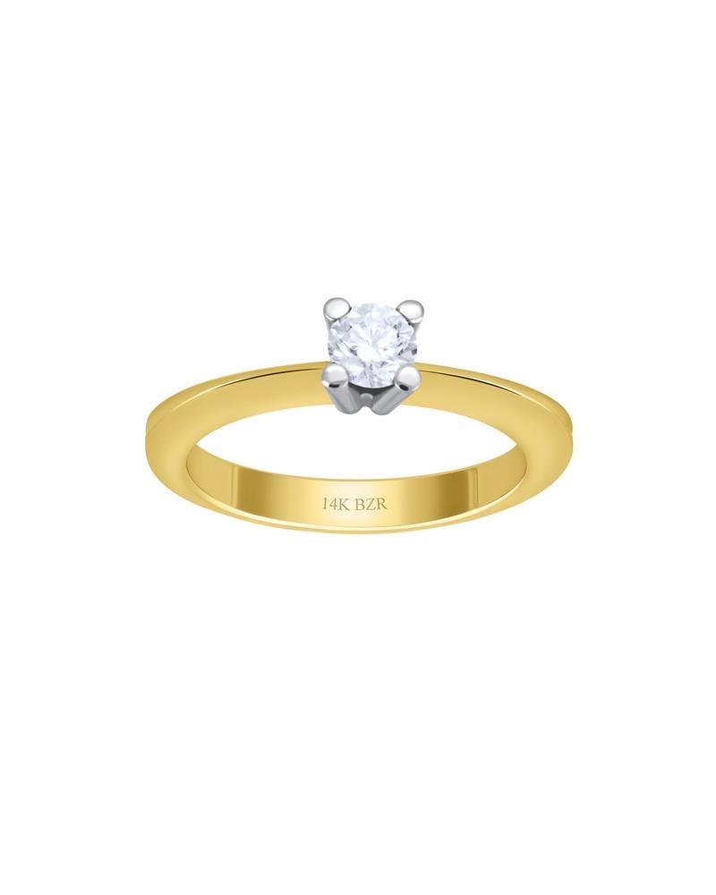 d3d90a7930ee anillo de compromiso de oro amarillo y blanco con -552bic-30. Cargando zoom.