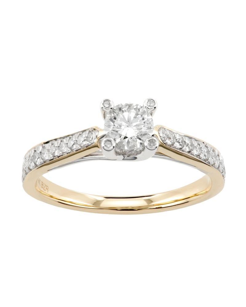 456168b12282 anillo de compromiso de oro amarillo y blanco con 6-rs0134yw. Cargando zoom.