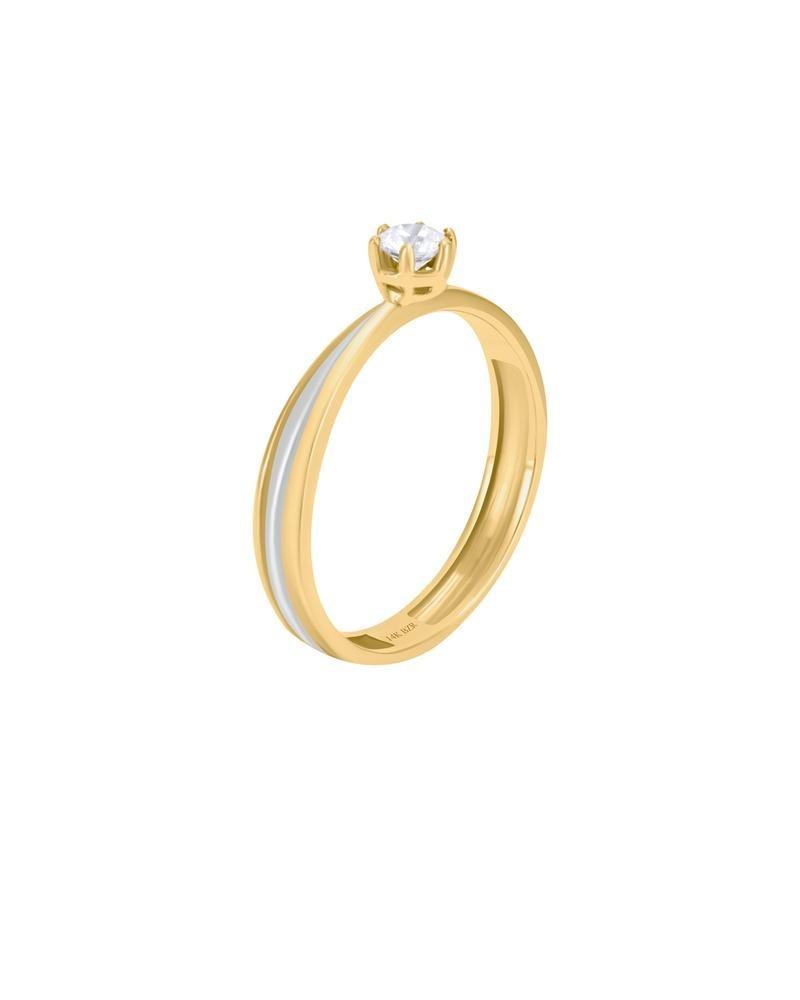 f19ff01fb5eb anillo de compromiso de oro amarillo y blanco con bte -b1708. Cargando zoom.