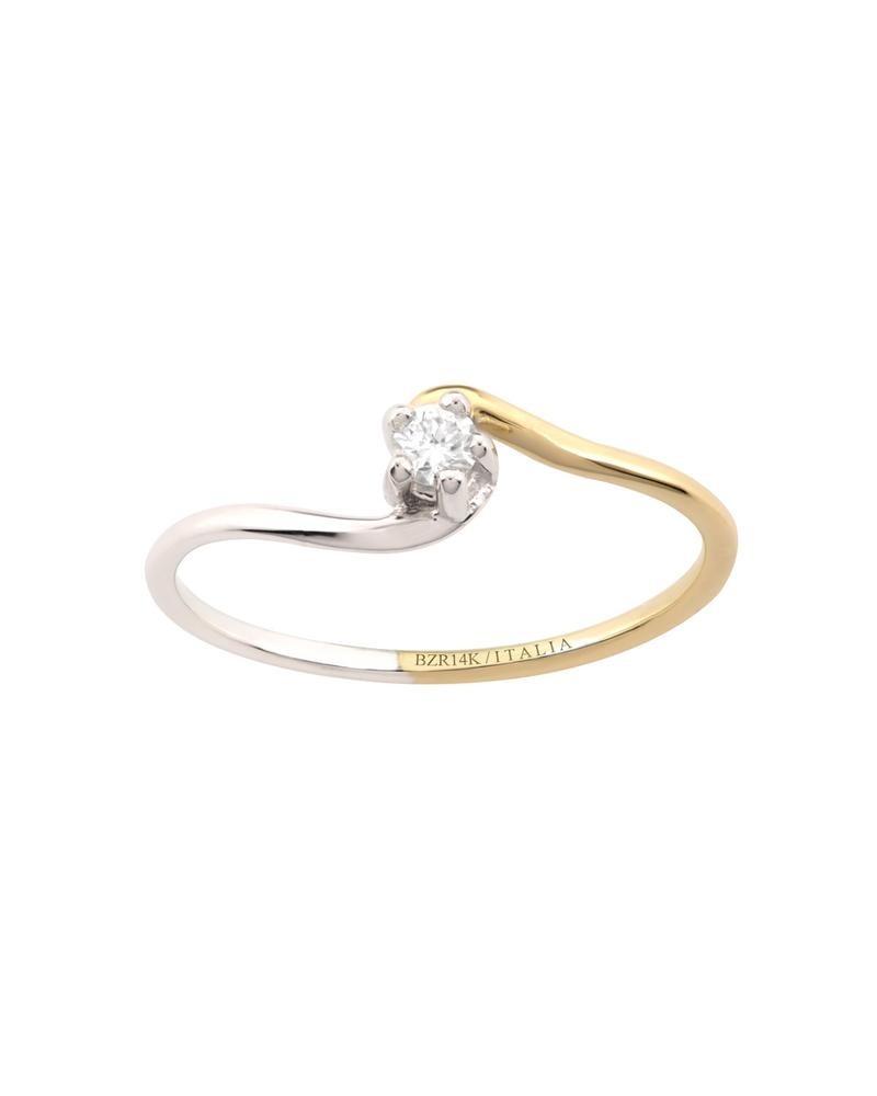bbdc2ca225ed anillo de compromiso de oro blanco y amarillo bte 10 p-b1148. Cargando zoom.