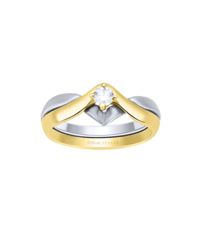 44bbcc75eb0d anillo de compromiso de oro blanco y amarillo bte 15 p-b4225. Cargando zoom.