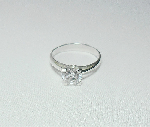 anillo de compromiso de plata 925 numero 5 1/2