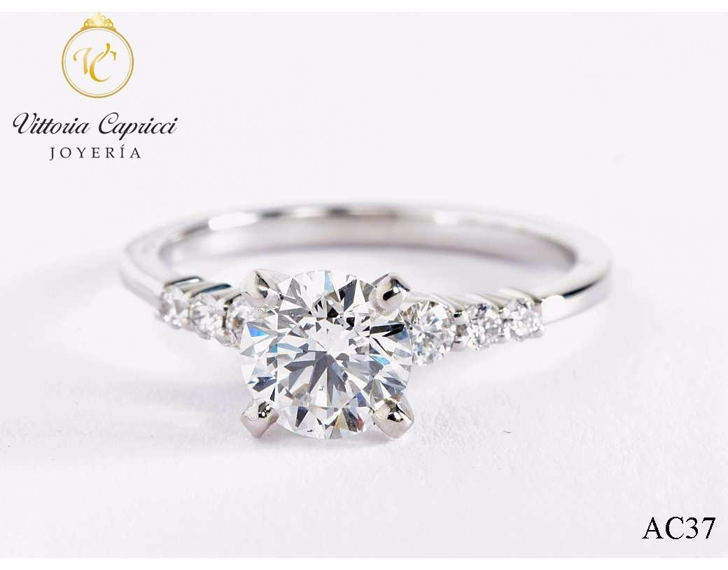 9d3f26edc92d anillo de compromiso en plata 950 con zircones suizos- j.vc. Cargando zoom.