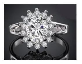 anillo de compromiso flor hermoso swarov elements envio grat