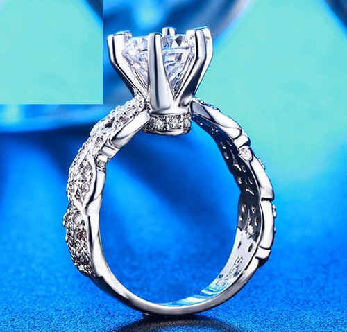 anillo de compromiso lujoso vintage novia regalo envio g!