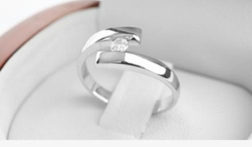 anillo de compromiso modelo  venus de oro blanco