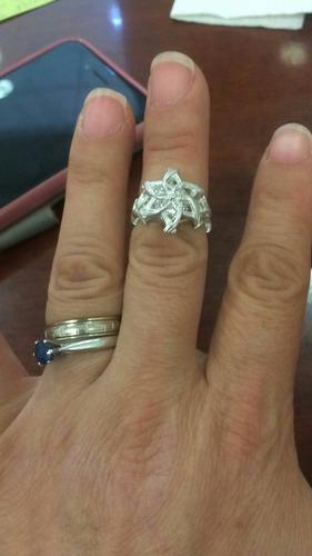 anillo de compromiso nenya galadriel elfos  hadas  espadas