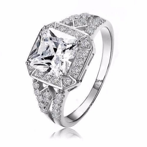 anillo de compromiso o boda plata ley 925