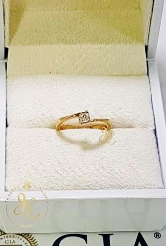 anillo de compromiso oro 18k diamante 0.17 ct gia ac_134