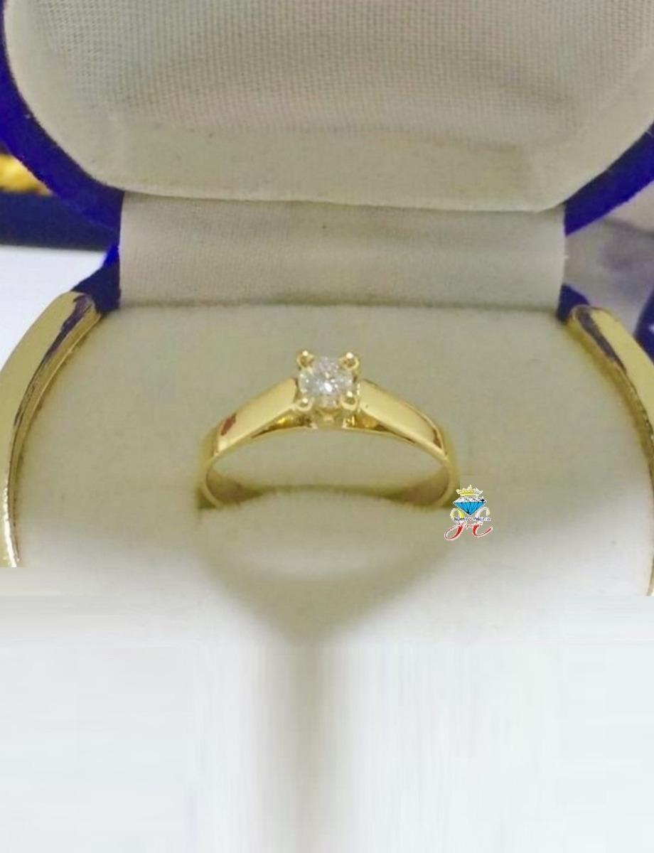 1978d675032a anillo de compromiso oro amarillo 21k 18k diamante 15 pt gia. Cargando zoom.