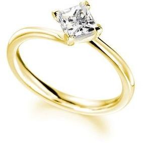 d4956d4f1ef0 Anillo De Compromiso Con Zirconia Corte Princess - Anillos Oro en ...