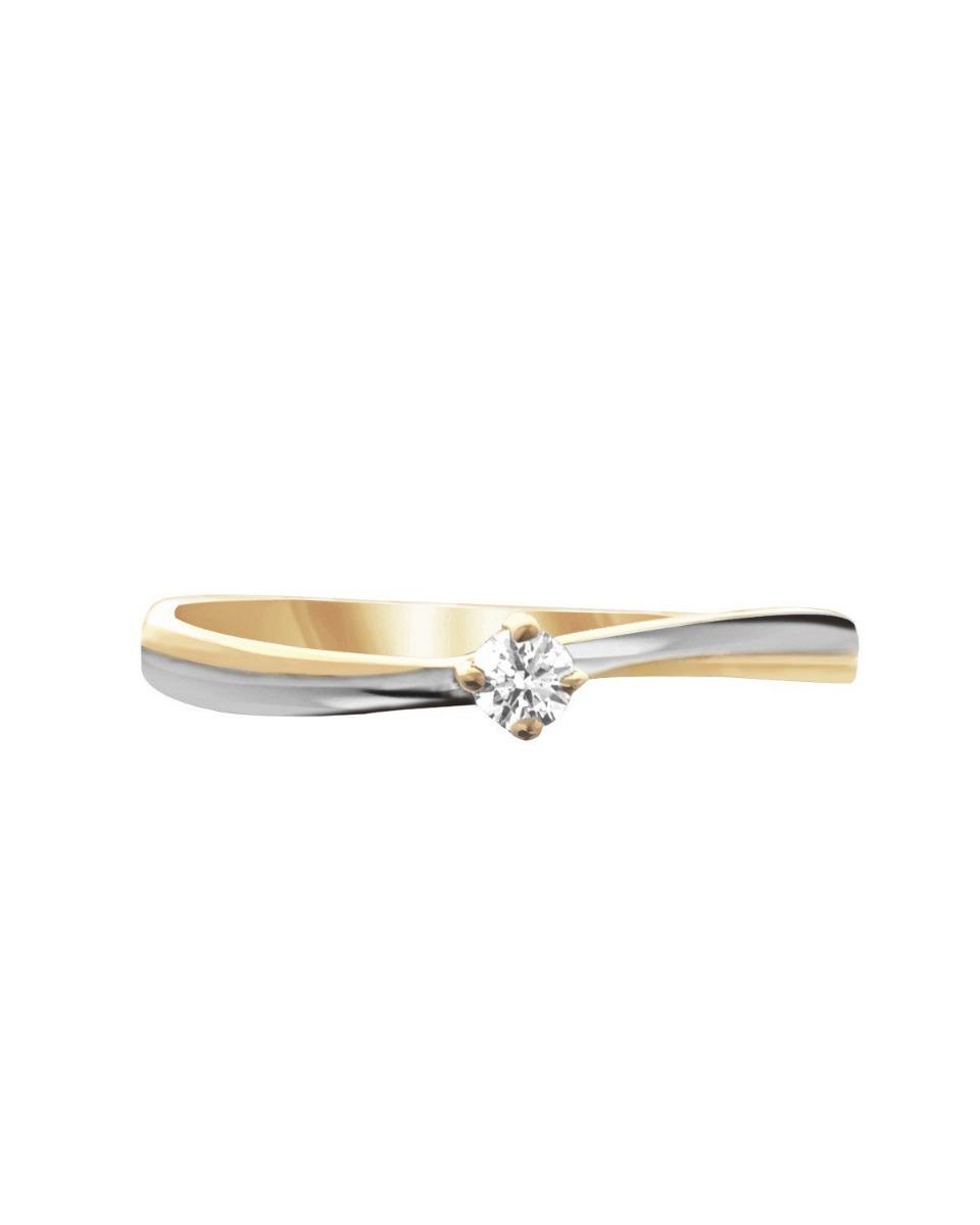 5e98df9815dd anillo de compromiso oro amarillo y blanco 14 kt ac144. Cargando zoom.