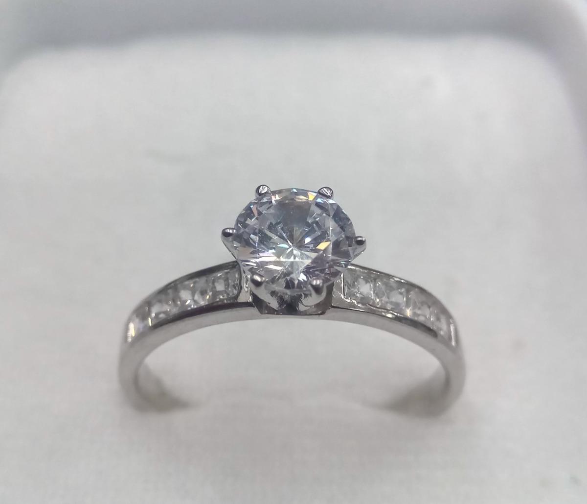 c33a41e6558e anillo de compromiso oro blanco 10 kilates. Cargando zoom.