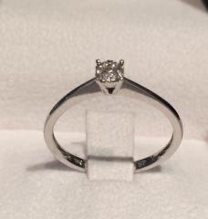 anillo de compromiso oro blanco diamantes
