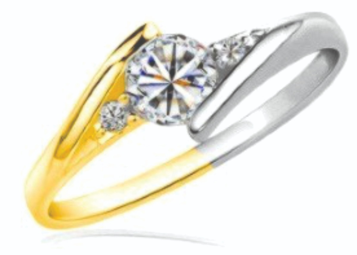 fe991e59675b anillo de compromiso oro blanco y amarillo 14 kt ac145. Cargando zoom.