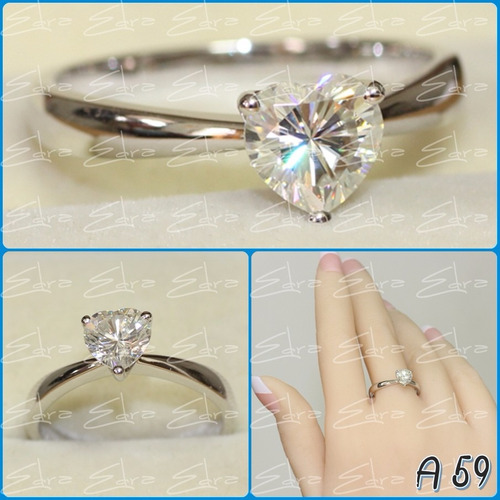 anillo de compromiso-oro de 18 k: blanco o amarillo macizo 1