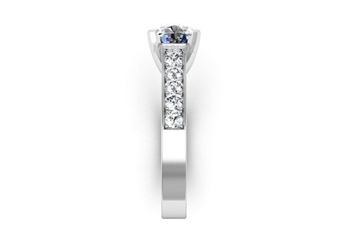 anillo de compromiso oro plata y rodio envio  estuche gratis