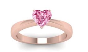 c66269f2acb5 Anillo Con Diamante Corazon Rosa - Anillos en Mercado Libre México