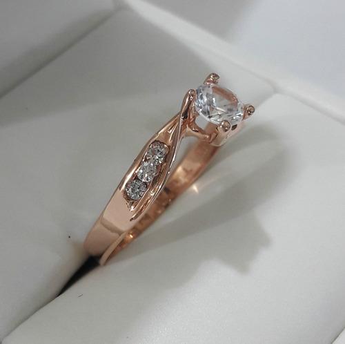 anillo de compromiso oro rosa 14kt envio gratis marloz 1