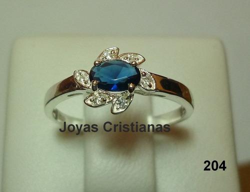 anillo de compromiso plata 925 con baño en oro blanco 18 k