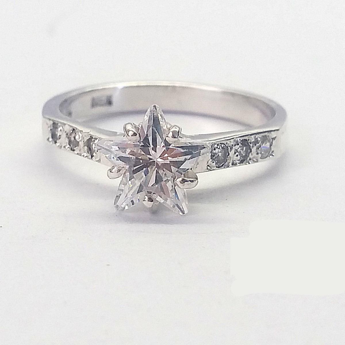eac1f8f6b46a Anillo De Compromiso Plata .925 Corte Estrella -   569.00 en Mercado ...