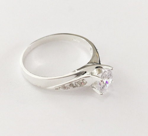 anillo de compromiso plata 925, cristales swarovski, 06