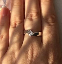 anillo de compromiso plata 925 diamante 6mm