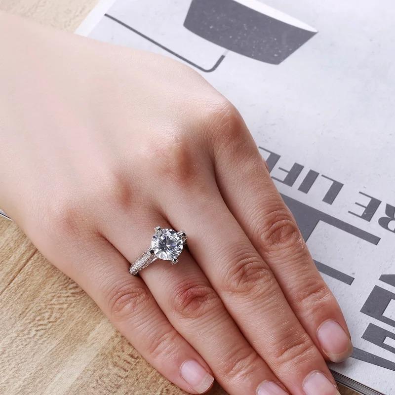 74c4f45e3345 anillo de compromiso plata 925 diamantes. Cargando zoom.