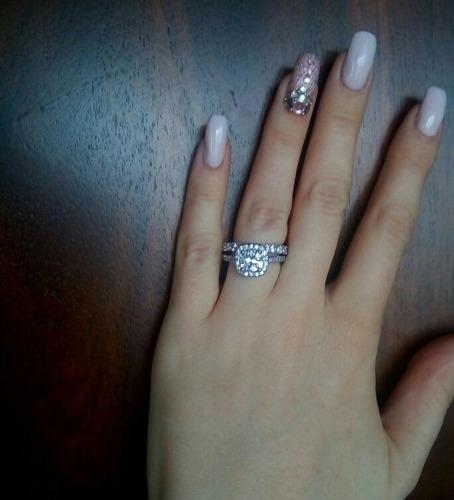 anillo de compromiso plata 925 esterlina genuina liquidacion