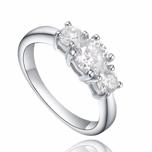 anillo de compromiso plata 925 ¡oferta! - joyas mujer regalo