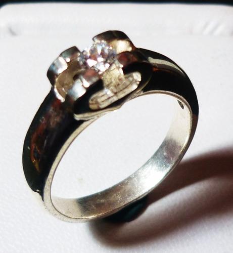 anillo de compromiso plata 925 oro joyas diamante esmeralda