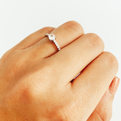 anillo de compromiso plata 925 rodinada c/ cubic mod. 10369