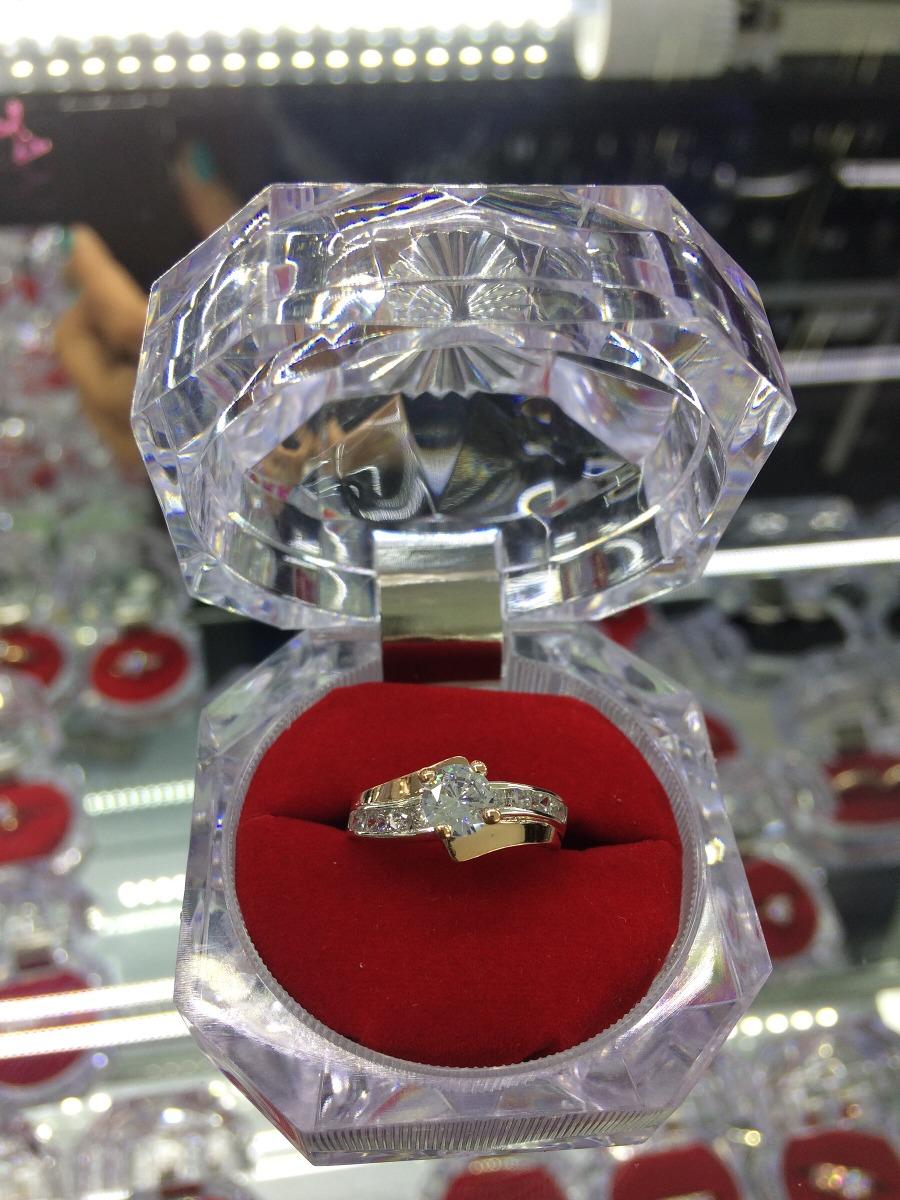 671869672d45 anillo de compromiso plata 950 con oro de 18kl. Cargando zoom.