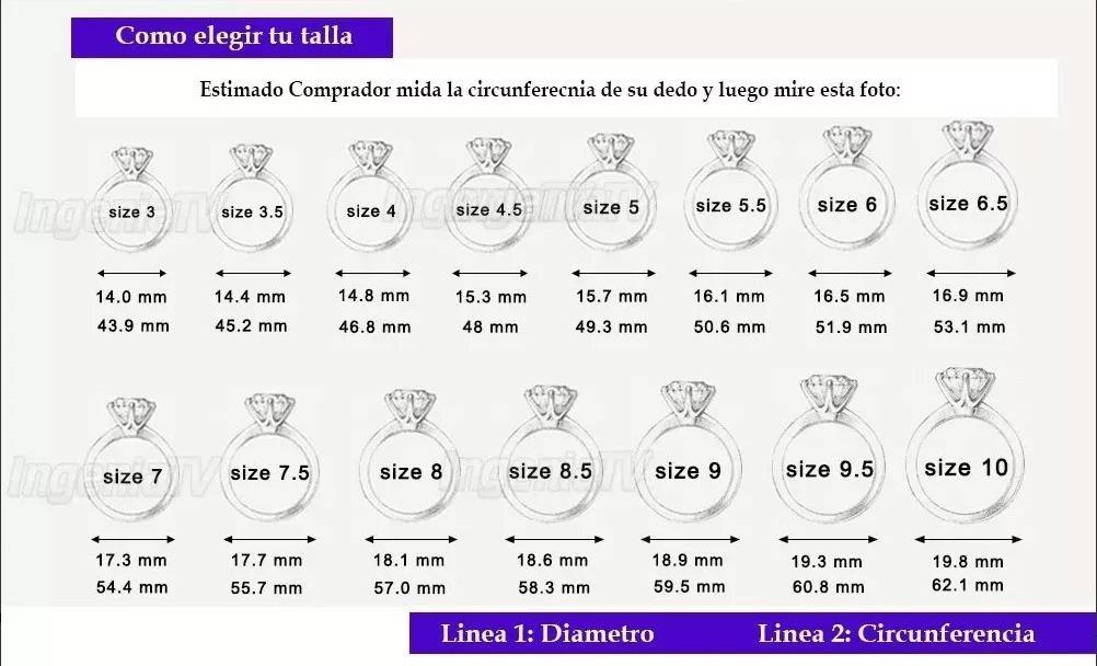 e429e0a66a6a Anillo De Compromiso Plata Pura Esterlina Zirconia Aaa -   299.00 en ...