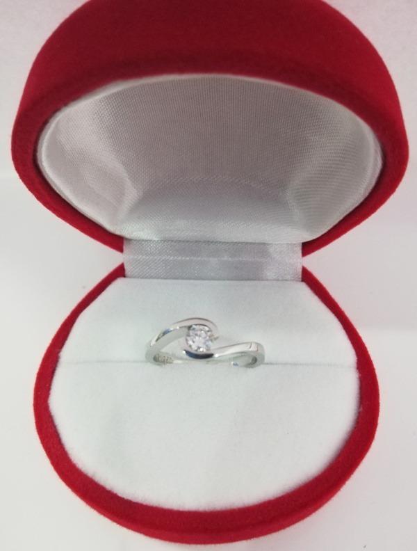 8f651d148c96 Anillo De Compromiso Platino Ley 950 Diamante De 0.20 Cts ...