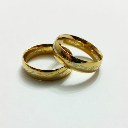 anillo de el señor de los anillos acero inoxidable