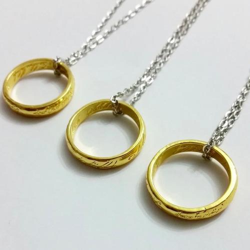 anillo de el señor de los anillos incluye cadena