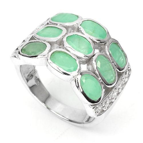 anillo de esmeraldas naturales ae01