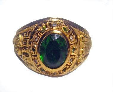 anillo de grado clàsico tipo joya para dama 6x8