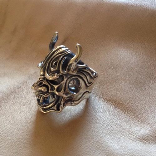 anillo de hannya, plata 925