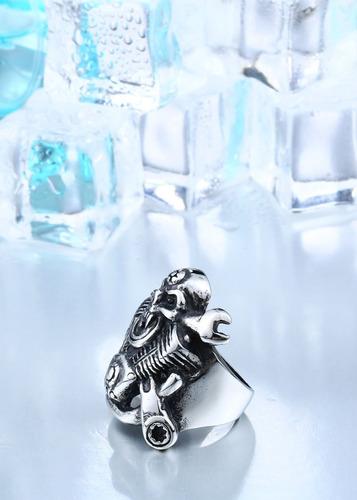 anillo de hombre calavera motocicleta moda 2018 1