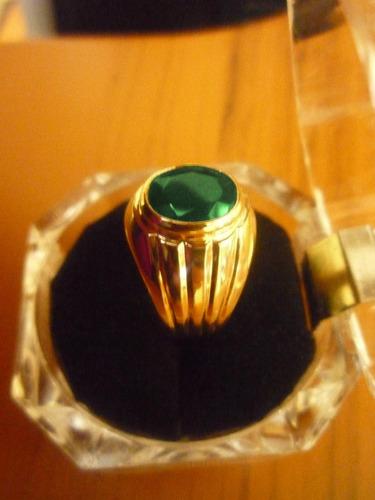 anillo de hombre, oro de 18k