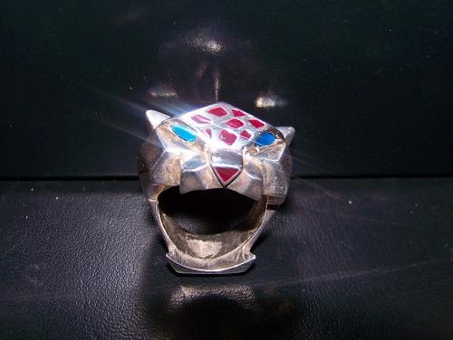 anillo de jaguar, plata .925
